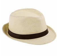 Wholesale Packing Cap Hat - Fashion Handwork Women Summer straw Sun hat Boho Beach Fedora hat Sunhat Trilby Men Panama Hat Gangster Cap Good Pack 25