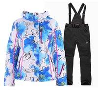 Wholesale Warmest Womens Ski Jacket - Wholesale-2016Winter womens Skiing jackets+warm pants Windproof rainproof Breathable women fashion ski suit outdoor jacket winter clothes
