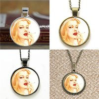 Wholesale D1 Pin - 10pcs Vintage Pin Up Girl D1 glass Dome Pendant Necklace keyring bookmark cufflink earring bracelet