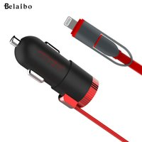Wholesale Portable Usb Multi Charger Cable - Wholesale- USB Car Charger, Brand Portable, 1M Data line, multi-function connector, For Lightning 12W Car Charger, For iPhone With Cable