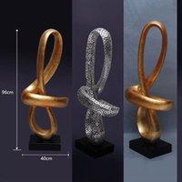 ingrosso scultura morbida-Art Gilded Sculpture Crafts Linea Natural Soft Furnishings Statue Decoration Scultura Artigianato con Resina per Decorazione Hotel