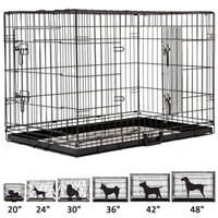 Wholesale 42 Doors Wire Folding Pet Crate Dog Cat Cage Suitcase Kennel Playpen With Tray