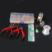 Wholesale jewellery making accessories - SET JEWELLERY MAKING KIT BEADS FINDINGS PLIERS Fit Jewelry Accessories DIY ZH BDH010