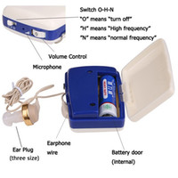 Wholesale Ear Hearing Aid Kit - Worn pocket ear aid wire hearing amplifier kit ear pick S-6A free shipping china electronics market