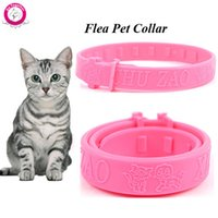 Wholesale Cat Flea Tick Collars - Wholesale Soft Silicon Pet Cat Flea Collar Adjustable Practical Tick Mite Louse Reject Collar For Cats Kitten
