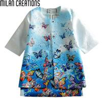 ingrosso cappotti di vestito invernale del bambino-Neonate Dress 2015 Abbigliamento per bambini Inverno Ragazze Vestiti Vestidos Farfalla stampata Abiti per bambini per le ragazze (Dress + Coat)
