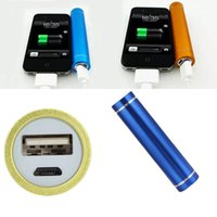 Wholesale External Backup Battery Galaxy S4 - 2600mAh Portable Power Banks Powerbank External Backup Battery Universal Charger For iPhone 6 6s Plus Galaxy S6 S5 S4 Note 4 3 HTC