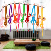 Wholesale Curtain Decoration Toy - 60cm Cute Long Arm Tail Monkey Soft Plush Doll Toy Baby Sleeping Appease Animal Monkey Home Decoration Curtains Hanging Doll CCA8068 100pcs