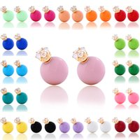 Wholesale Dropping Earring Good Quality - Fashion Candy and Rhinestone Earring studs for Women. Lovely Pink Ear Drop for Girl best Christmas gift wholesale with good quality