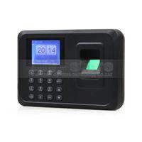leitor de código de porta venda por atacado-Relógio de tempo USB Biométrico de Comparecimento do Tempo Digital Fingerprint Recorder Empregado Digital Eletrônico Inglês Máquina Leitor de Voz