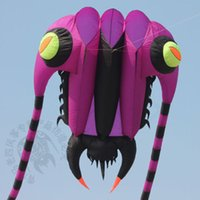 Wholesale Kite Stunt - 3D 10 Sqm 1 Line purple Stunt Parafoil Trilobites POWER Sport Kite outdoor toy