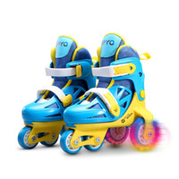 Wholesale Slalom Skates Shoes - Wholesale- 1 Pair Kids Children Lovely Cute Stable Slalom Ice Skate Roller Skating Shoes Adjustable Size Washable Toddler Fall Prevention