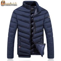 Wholesale Mens Down Padded - Fall-Grandwish Warm Padded Men's Jackets Winter 2016 Stand Collar Hat Mens Down Coats & Outwear Thicken Winter Parkas Male 3XL,
