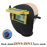 Wholesale Arc Auto - Solar auto darke shade DIN9-DIN13 leather welder mask helmet eyes goggle welder glasses for ARC TIG MMA MIG welding machine