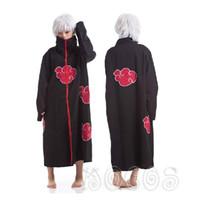 naruto cosplay toptan satış-Ucuz Naruto Naruto Cosplay En Iyi Anime Kostümleri Akatsuki Itachi Cosplay Akatsuki / Uchiha Itachi Cosplay Pelerin Kapşonlu