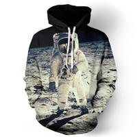 Wholesale Woman S Galaxy Crewneck - Wholesale-2016 Fashion men women winter sweatshirts space galaxy print Astronaut 3d Pullovers novetly Crewneck long-sleeve unisex hoody