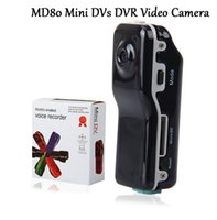 MD80 Mini DV videocámara DVR Cámara de vídeo Webcam Soporte de 16 GB HD Cam Casco Deportivo Bicicleta Motocicleta Cámara Video Audio Grabador