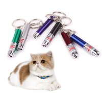 Wholesale Laser Pointers Mouse - Laser funny cat stick New Cool 2 In1 Laser Pointer Pen With White LED Light Childrens Play Cat Toy 2017 NEW ARRIVE TO128