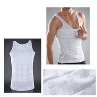Wholesale Men S Thermal Vest - Hot Men's Sexy Slimming Tummy Body Shaper Belly Fatty Thermal Slim Lift Underwear Men Sport Vest Shirt Shapewear Reducers Men's OPP BAG