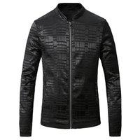 Wholesale Designer Urban - Wholesale- 2016 Jacquard Printed Men Jacket Fashion Casual Designer Brand Men Hip Hop Urban Jacket T0127