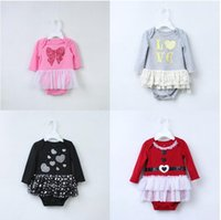 Wholesale infant black tutu skirt - Baby Romper Princess Romper Dress Infant Girls Newborn Romper tutu Dress Cake Skirt Rompers 5 p l