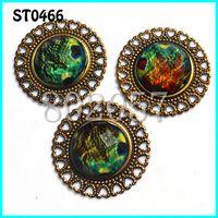 Wholesale Wholesale Sew Rhinestones Cheap - latback Shape Metal Rhinestone buttons with pearl,50pcs lot,,35MM,Sewing on Buttons M69338 Buttons Cheap Buttons Flatback Shape Metal R...
