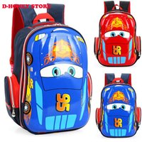 Wholesale 3d Cartoon Style Shoulder Bag - School bags 3D car children fashion bag Character Car-styling Backpacks For Kids Cars Boys Backpack Child School Bag mochila