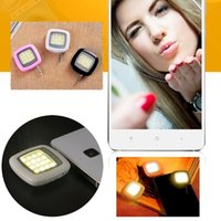 Wholesale Portable Mini LED Flash Fill Light Selfie Lens Sync Shutter with Natural Soft Lights for IOS Android WP8