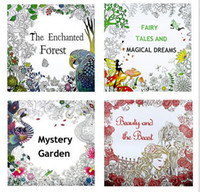 Wholesale 4 Designs Kids Adult Coloring Books mystery Garden beauty and beast Magical dream Enchanted Forest Pages Painting Coloring Books