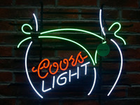 Новый более крупный Coors Light Beer Bikini Girl Bar Neon Sig KTV Club Pub Display Handcrafted Custom Real Glass Tube Неоновые вывески 24