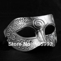 Venetian masque de carnaval romain homme gladiator Mardi Gras Mask100pcs Party Masque d'or / argent