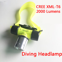 Wholesale Cree Scuba Diving - Sanyi Underwater 2000 Lumen CREE XML T6 Headlamp LED Waterproof 20M Swimming Diving Headlight Dive Scuba Head Light Torch Lamp
