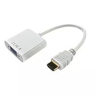 ingrosso hd adattatore vga-Cavo HDMI a VGA Da HDMI a VGA RGB femmina da HDMI a VGA analogico Video Audio Adapter Cavi HD 1080P per PC Laptop