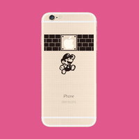 Wholesale Decal Mario - Mario for iphone6s plus sticker iphone decal black Decal Skin iphone5 5s decal iphone6 6s plus sticker