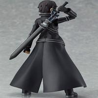 Wholesale Kirito Toy - toy Anime Sword Art Online S.A.O Kirito Action Toys 15cm Kirigaya Kazuto Figma PVC Action Figure Collectible Model Toy 3 Face