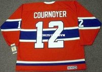 Cheap custom retro YVAN COURNOYER Montreal Canadiens 1968 CCM Vintage Jerseys Throwback Jerseys Throwback Jersey en jersey à manches longues