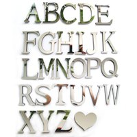 Wholesale Mirrored Acrylic Letters - Wholesale- 2017 new acrylic sticker love characters letters home decoration english 3d mirror wall stickers alphabet logo
