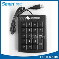 Wired USB Numeric Keypad Slim Mini Nummernblock Digital Keyboard 19 Tasten für Mac Pro / MacBook Air / Pro Laptop PC Notebook Desktop