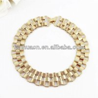 Wholesale Cheap Big Necklaces For Women - Punk Rock Style Gold Color Chain Big Collar Necklace for Women Fashion Jewelry Cheap necklace lightning