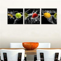 Wholesale Dining Oil Paints - Art Still Life Fruit Oil Painting Modern Canvas Oil Painting Fruits And Water Picture Decor for Dining Room