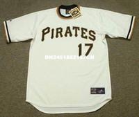 Wholesale Retro Dock - Throwback #17 DOCK ELLIS Pittsburgh Pirates 1971 Retro jerseys Home embroidery Men's baseball jersey