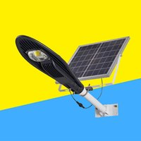Wholesale road hotel - Wholesale- LED integrated solar street lights 50W 100W home garden lights landscape hotel factory square municipal road lighting