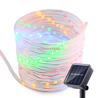 Wholesale jars for decoration - New arrive and fashion 50 100 LEDs Solar Power Rope Lights Waterproof Outdoor Portable Light Sensor Decoration for Christmas