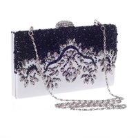 Wholesale Beautiful Evening Bags - Women Diamond Beaded Clutch Banquet Bag European And American Popular Evening Bag Ladies Party Bag 2016 New Arrival Beautiful HuiLin KY35
