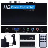 hdmi ypbpr adapter großhandel-Freeshipping VGA / Bestandteil YPbPr zum HDMI Upscaler HD videokonverter-Adapter 720p / 1080p VGA zum HDM Adapter für Spiel-Spielerlaptop
