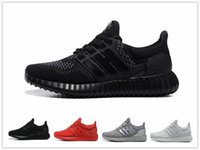 Wholesale Fashion Mens Causal Shoes - 2016 Hot Sale Ultra Boost All Black Running Shoes for Mens Women Perfect quality Athletic boost 350 Fashion Sports Causal Sneakers 36-45