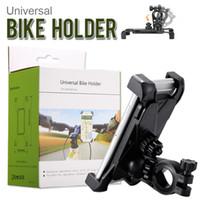 motosiklet kutusu toptan satış-Evrensel Bisiklet Tutucu 360 derece Ayarlanabilir Motosiklet Bisiklet Gidon Montaj Tutucu Perakende Kutusu ile Smartphone GPS Cihazı
