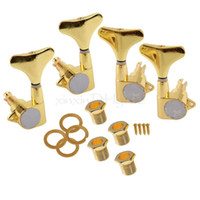 Wholesale 2r2l Tuning Pegs Machine Heads - Golden Guitar Sealed Tuner Tuning Peg Machine Head 2R2L For 4 String Bass