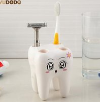 Wholesale Tooth Holders - Teeth Style Toothbrush Holder,4 Hole Cartoon Toothbrush Stand Tooth Brush Shelf,Bracket Container Bathroom Accessories Set