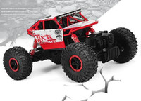 Wholesale Rock Rc - RC Car 2.4G 4CH 4WD Rock Crawlers 4x4 Driving Car Double Motors Drive Bigfoot Car Remote Control Car Model Off-Road Vehicle Toy